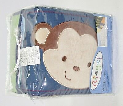 "Riegel Crib Bumper Pads ~ Tune Time ~ Primary Colors ~ 10"" x 160""**NEW*"
