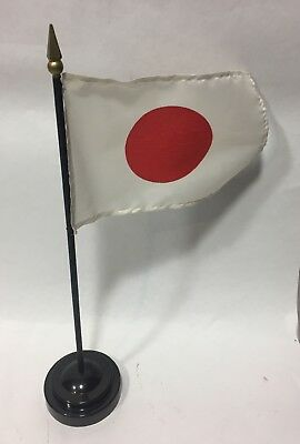 Japan Flag Small with Plastic Base and Stand Japanese Country Flag Small Display