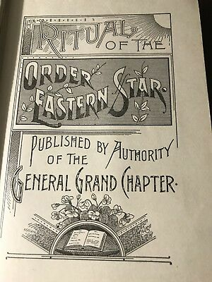 Ritual Of The Order Eastern Star Free Mason Antique Book FE 1919