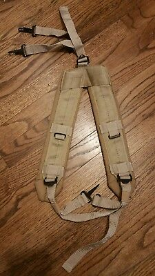 US Military Alice LC-2 Desert Tan Coyote LBE Y Shoulder Straps Suspenders MINT