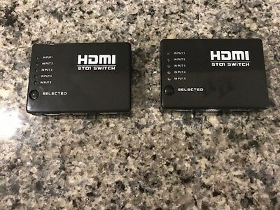 HDMI 5T01 Switch   w/5 pport amplifier selector remore control SET of TWO