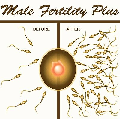 IMPROVE YOUR SPERM COUNT 500% MALE FERTILITY PLUS 2 Month Course, Herbal Vitamin