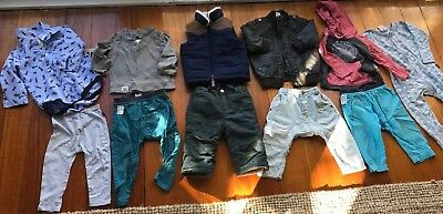 baby boy size 1 bulk bundle big name brands jackets / jeans/ pants / 11 items
