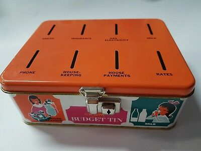 Vintage Willow Budget Tin- With Insert- 1960's