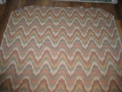 Heavy Weight ( upholstery?) Flame Design Fabric-Rolled and Unused 8 m
