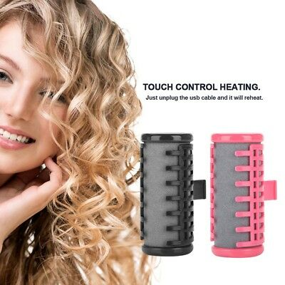 USB Thermal Hair Roller Hot Curlers Rechargeable Electric Heat Hair Roll DIY ES