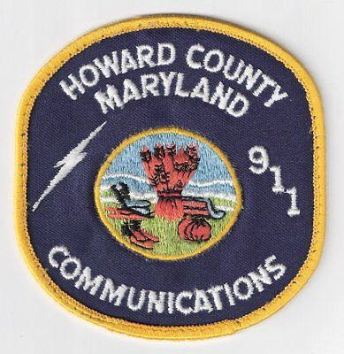 HO|MD Howard County Police Department Communications Patch (Round) - Maryland