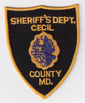 CE|MD Cecil County Sheriff's Office Police Patch (Style 1) -  Maryland