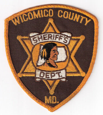WI|MD Wicomico County Sheriff's Office Police Patch (6-pt star) - Maryland