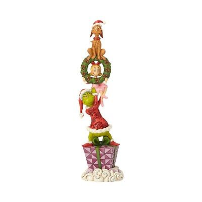 How the Grinch Stole Christmas Stacked Characters Figure Jim Shore Cindy Lou Max