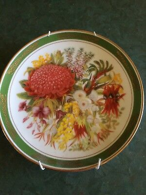 Royal Doulton/Franklin Mint Collector Plate: Australian Federation Flora Plate