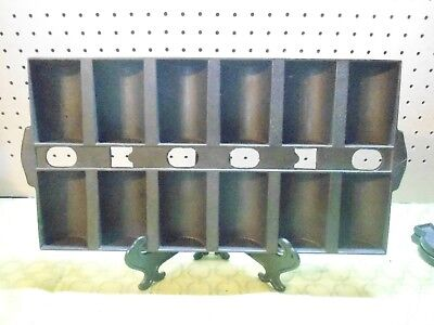 Vtg Cast Iron New England Style Gem French Roll Pan- Double gate mark