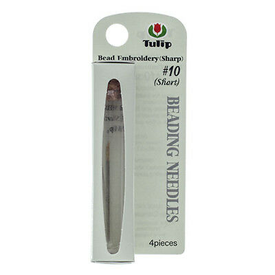 Tulip Beading Needles Size 10 Short - 4 needles packed in neat storage vial
