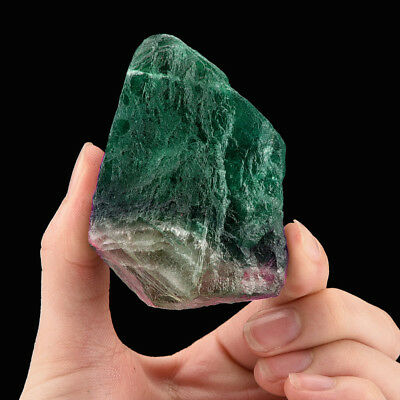 Large Natural Irregular Crystal Quartz Healing Fluorite Wand Stone Green Gem