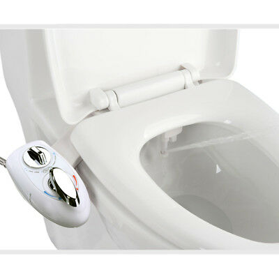 Hot/Cold Nozzle Bidet Toilet Attachment Fresh Water Spray Bathroom Seat Clean