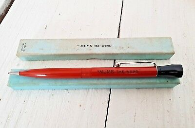 "Vintage Mechanical pencil ""MUMS THE WORD"" England suit Conway Stewart Parker pen"