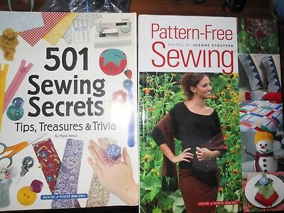 Lot Of 2 Sewing Books: 501 Sewing Secrets Trivia & Pattern Free Sewing