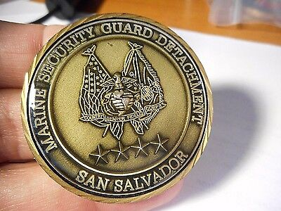 Marine Security Guard Detachment MSG San Salvador Embassy USMC Challenge Coin