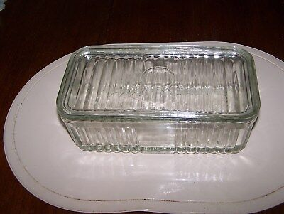 Vintage glass butter container