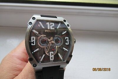 Police Cobra Carbon And Textured Dial New Old Stock 13845Js/02 Rrp£169 Mint A273