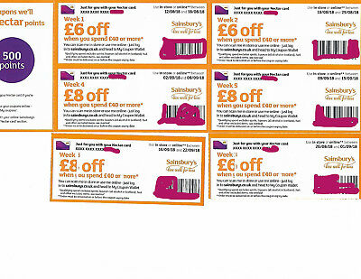 Sainsbury's £42 face value of money off shopping vouchers