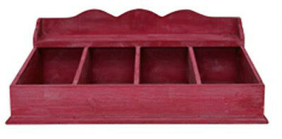 Red Wooden Cutlery Box from Greengate