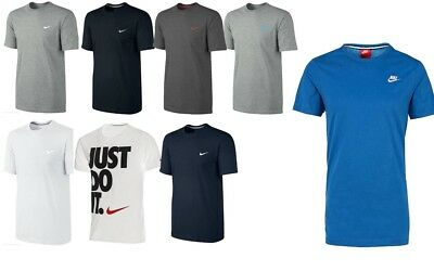 New Mens Nike Gym Sports T-Shirt Retro Nike Logo Top Crew Neck Tee S M L XL XXL