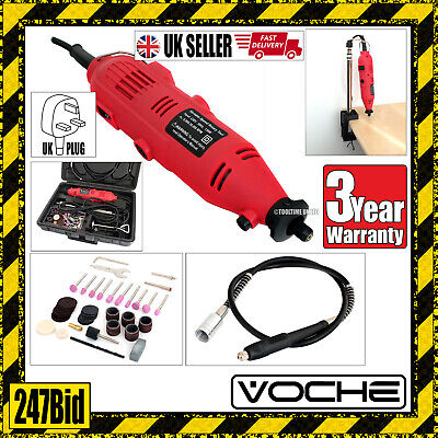 Voche® Rotary Mini Hobby Drill Multi Tool + Flexi + Stand + 40 Accessories