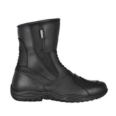 Oxford Hunter Waterproof Leather Motorbike Motorcycle Boots - Black