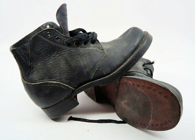 ankle WWII Army Heer leather combat boot US German dress military soldier low