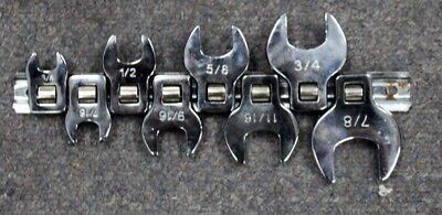 Crows feet wrenches set of 8pc 3/8-7/8