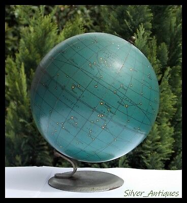 STUNNING RARE ANTIQUE George Phillip & Sons 6 INCH CELESTIAL GLOBE ON STAND