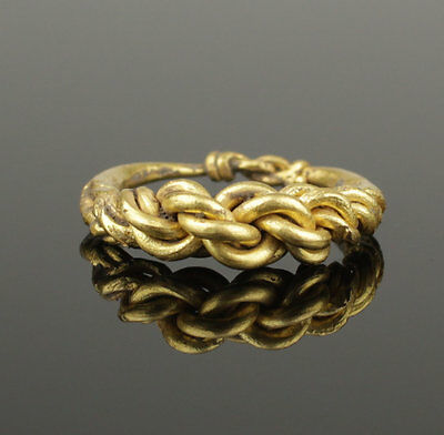 ANCIENT VIKING HEAVY BRAIDED GOLD RING - CIRCA 9th/10th CENTURY