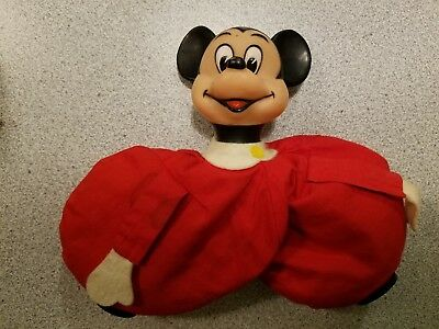 Mickey Mouse Vintage Walt Disney Productions Made In Japan Pellet / Beanbag Doll