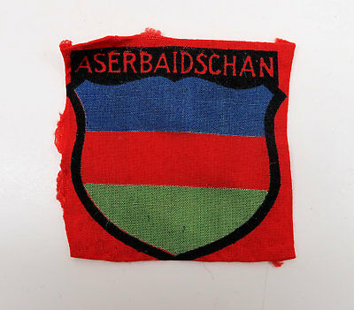WWII German shield sleeve patch insignia foreign volunteer badge ASERBAIDSCHAN