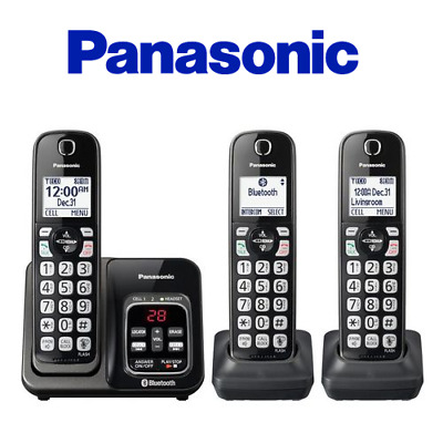 Panasonic KX-TG833SK Cordless Phone Answering Machine System Link2Cell Bluetooth