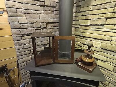 Victorian Store Display Case With Wooden Spool Holder W/Drawer&Stash Holes