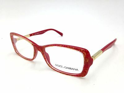 ea44a2b8df  250 Dolce   Gabbana Womens Red Eyeglasses Clear Lens Frame Glasses Dg 3156