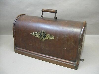 Antique 1902 Singer Hand Crank 28K Sewing Machine Bentwood Case Top Only Restore