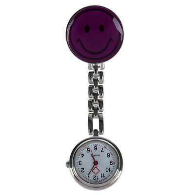 Medical nurse pocket watch,quartz movement,brooch pendant pocket watch purp F7U6