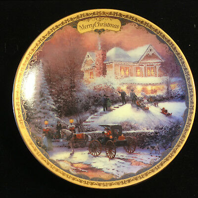 Thomas Kincaid Limited Edition Plate - Merry Christmas with Certificate