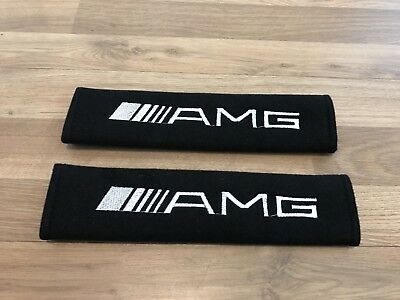 2X Seat Belt Cover Pads Gift Mercedes AMG Line 43 55 45 63 GT R C E SClass Sport