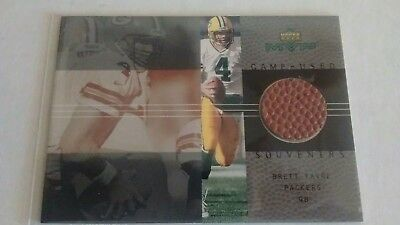 MVP game used souvenirs real piece of used ball! Brett farve packers qb card #BF