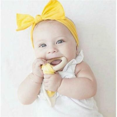 1x Baby Safety Wooden Natural Teething Ring Cute Teether Bunny Sensory Toy New S