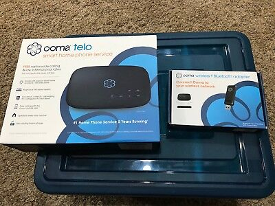 Ooma Telo Air Free Home Phone Service with Wireless and Bluetooth Adapter NEW NR