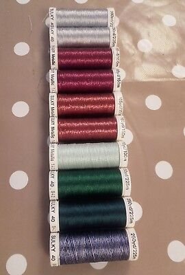 10 spools Gutterman sulky embroidery and top stitch thread made in Germany