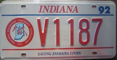 Replica Indiana Firefighters License Plate