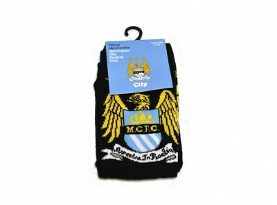 Man City FC - Adult Crest Socks (1 pair) - Size 6 to 11 - Official Product