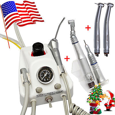 Dental Portable Turbine Unit 4H Work W/ Compressor Low High Speed Handpiece :YUI