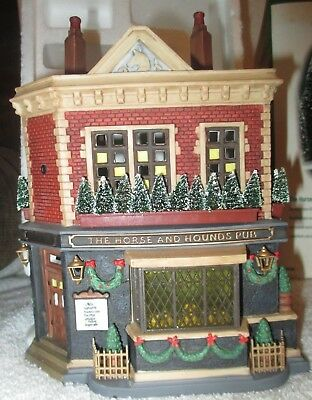 Dept 56 Dickens Village - The Horse and Hounds Pub Excellent Condition